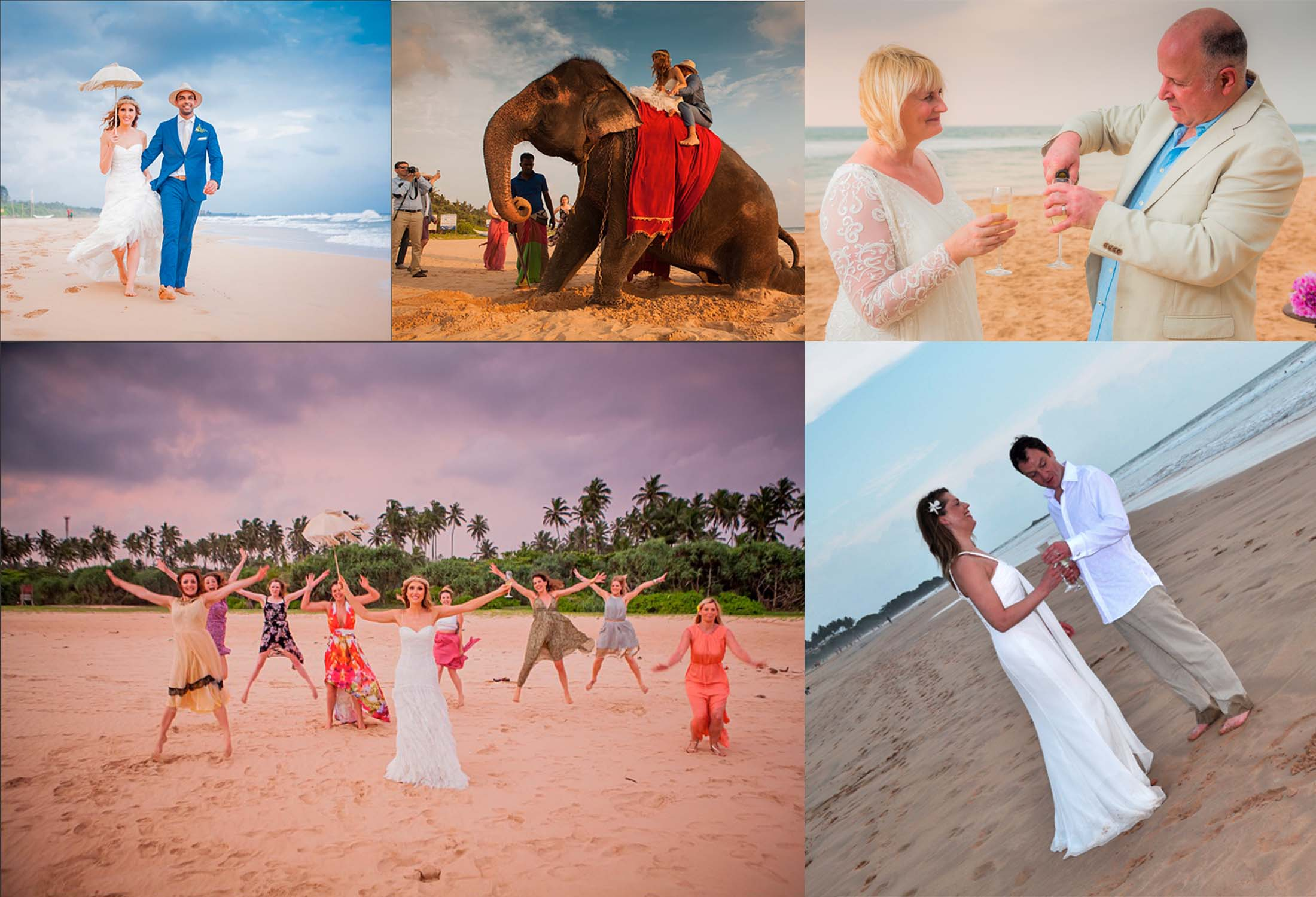 Nisala Arana Beach Wedding Collage Image