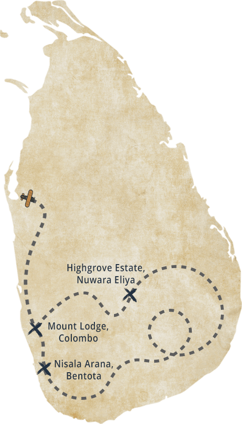 Nisala Arana Sri Lanka Map